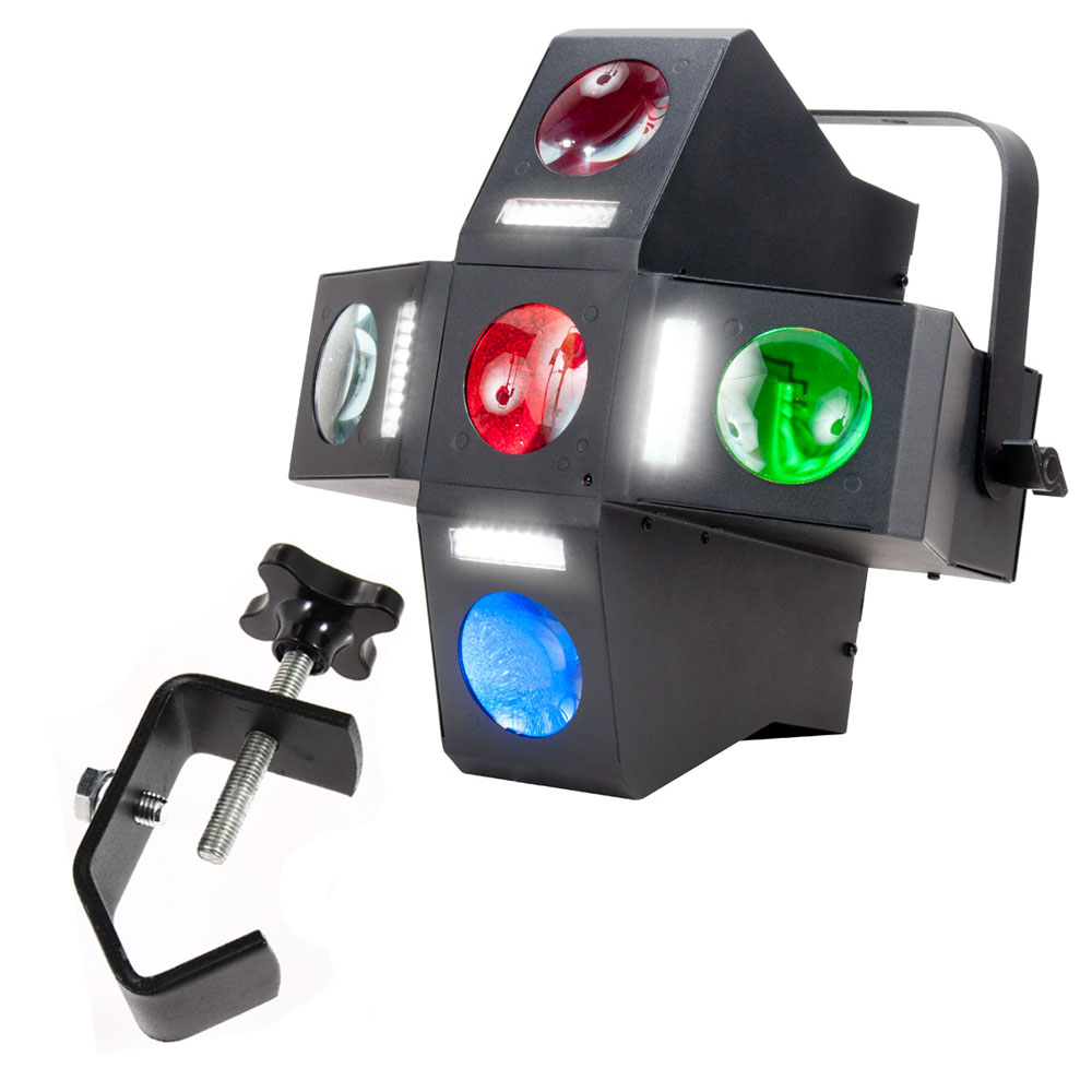 1 X 2 Led Light Fixture: American DJ MONSTER FUN 2-FX-In-1 25x1-Watt LED DMX