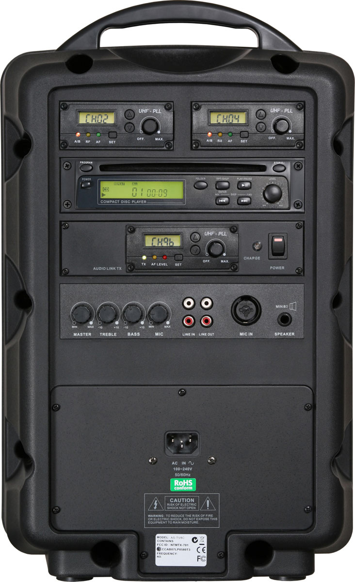 Galaxy audio as tv8ct1 8 mobile pa system w audio link - Mobile porta cd ...