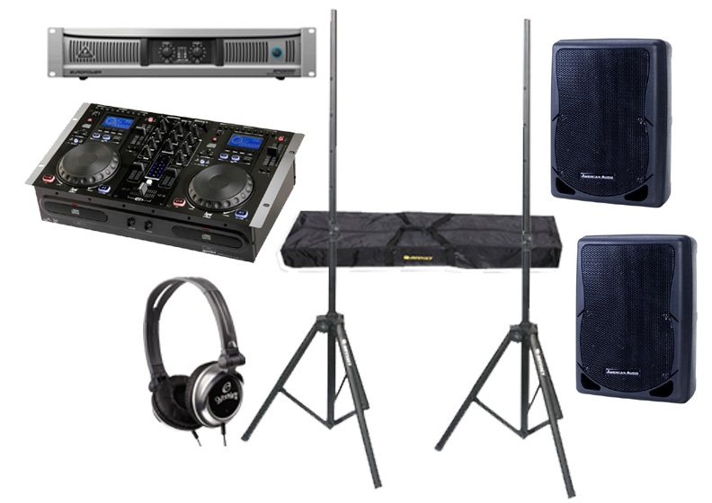 gemini cdm 3610 pro audio dj mp3 dual cd player mixing console with monitor headphones. Black Bedroom Furniture Sets. Home Design Ideas