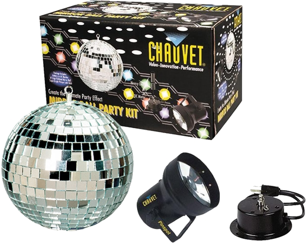 Chauvet Dj Mbk 2 Rotating 12 Mirror Ball Disco Party Kit