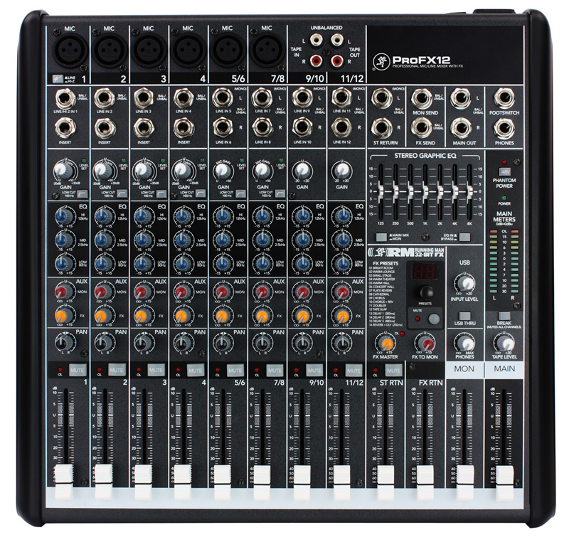 Mackie Profx12 Pro Audio Dj 12 Channel Digital Live Sound Mixer Effects With 120 Gator Padded