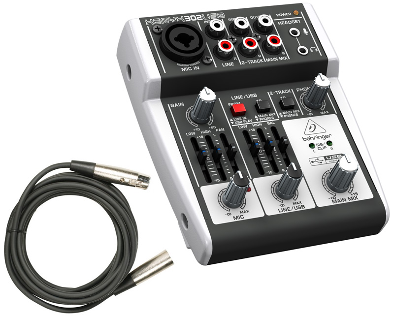 Sound Equipment Cables : New behringer usb pro audio dj ch live sound mixer