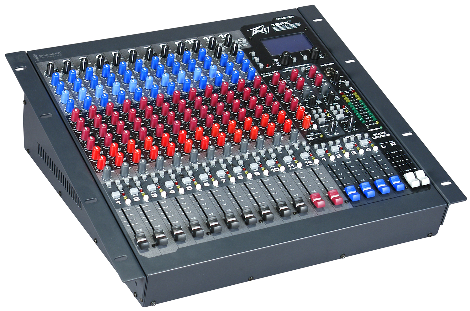 peavey 16fx 2 stereo channel mixer with mid frequency sweepable 3 band equalizer pev13 512400. Black Bedroom Furniture Sets. Home Design Ideas