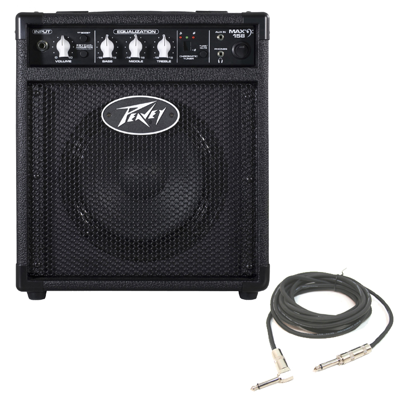 pro audio bass guitar peavey max 158 combo amp 20w 8 amplifier 1 4 instrument cable peavey. Black Bedroom Furniture Sets. Home Design Ideas