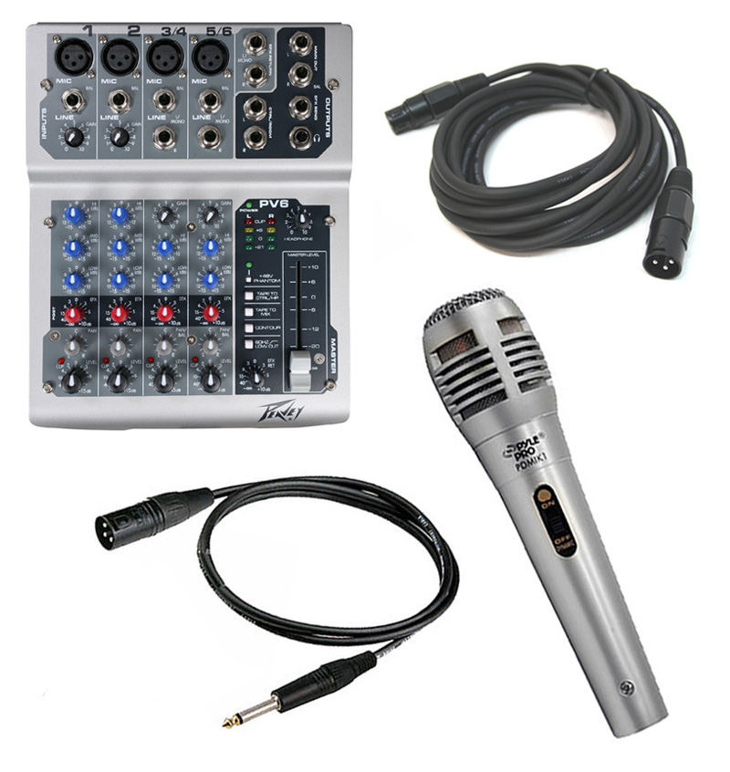 pro audio peavey pv6 usb compact usb 6 channel audio mixer with pdmik1 microphone xlr. Black Bedroom Furniture Sets. Home Design Ideas