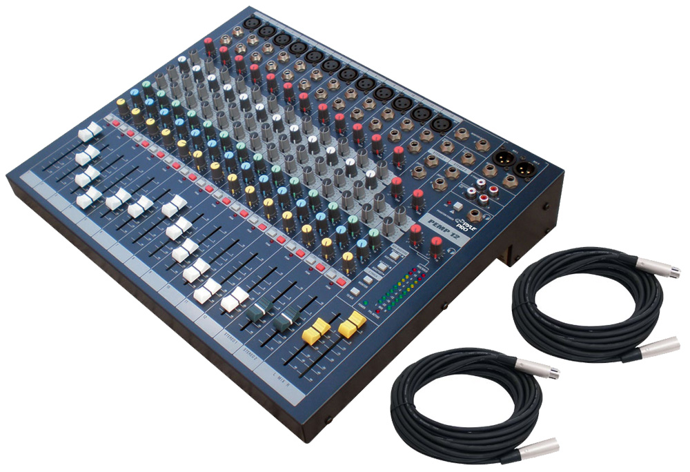 Audio Pyle DJ PEMP12 Stereo 12 Channel Table Top Mixer with XLR ...