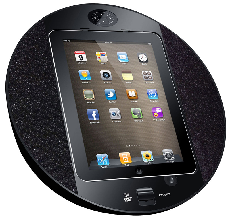 pyle audio pipdsp2b ipod iphone touch screen dock with fm. Black Bedroom Furniture Sets. Home Design Ideas