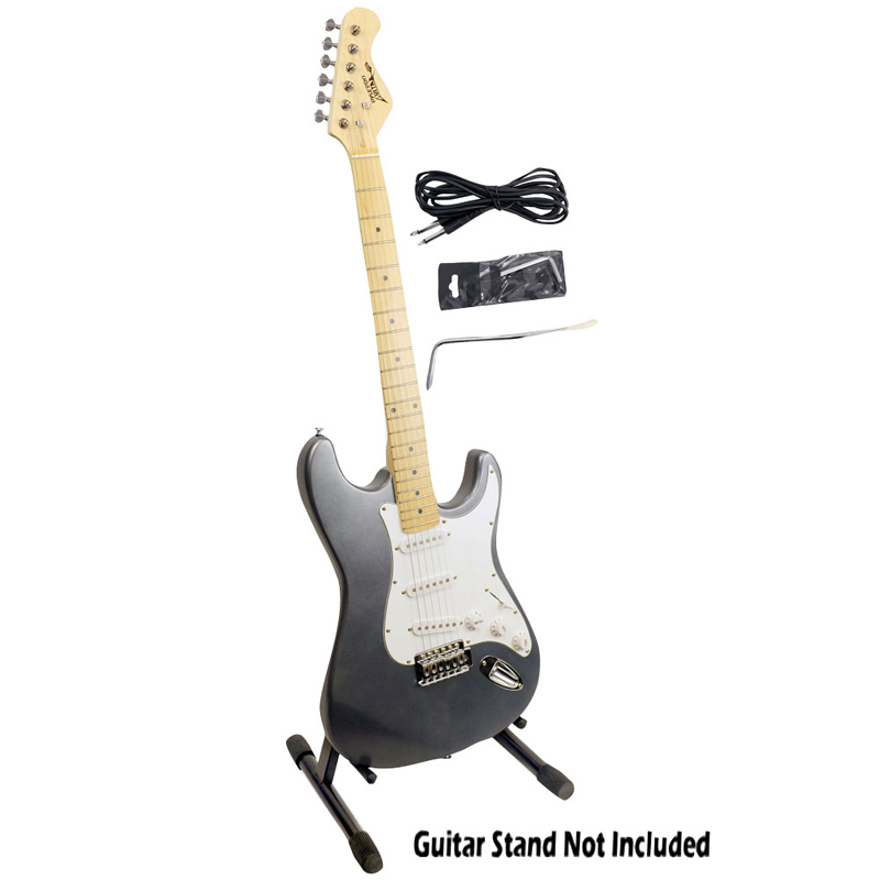 pyle pro audio pge25 professional full size 6 string electric guitar w satin slate metallic. Black Bedroom Furniture Sets. Home Design Ideas