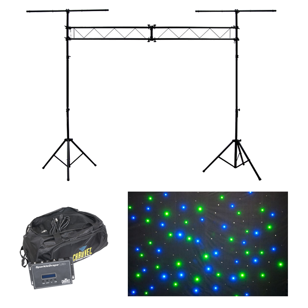 Sparkle drape led animated color backdrop chauvet light for Truss package cost