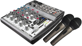 DJ Mixer and Microphones