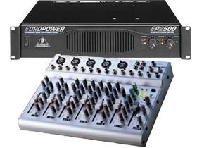 10 Channel Mixer & Amplifiers