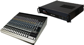 16 Channel Mixer & Amplifiers