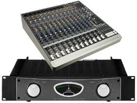 5 Channel Mixer & Amplifiers