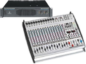 8 Channel Mixer & Amplifiers