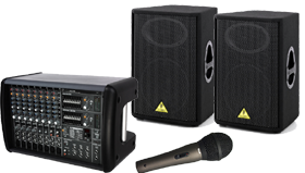 Powered Mixers and Speaker Packages