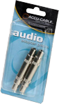 "Accu Cable ACQFQF Female 1/4"" To Female 1/4"" Audio Adapter 2 Pack"