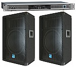 "Behringer Pro Audio DJ EPQ900 Rack Mount 900 Watt Power Amplifier & (2) Gemini GT-1204 Passive 12"" 400 Watt Speakers Package"