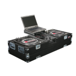 Odyssey CGSBM10 Carpeted Glide Style DJ Turntable & 10 inch Mixer Coffin