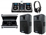 "Cortex DMIX-300 Pro DJ iPod Digital Media Controller with Sturdy Case, Monitor Headphones and American Audio DLS-15P 15"" PA 300W 2-Way Speaker Pair Package"