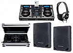 "Cortex DMIX-300 Pro DJ iPod Digital Media Controller with Sturdy Case, Monitor Headphones and American Audio XSP-12A 12"" PA 300W 2-Way Speaker Pair Package"