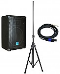 "Gemini GT-1004 New Pro Audio DJ 10"" Passive 360 Watt PA Speaker / Monitor Pair with Tripod Stand & Cable"