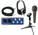 Pro Audio PreSonus AudioBox USB 2 Channel Recording System with $120 Podcast Studio Package
