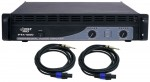 Pro Audio Pyle DJ PTA1000 Rack Mount 1000 Watt PA Speaker Amp Amplifier with Speakon Cables