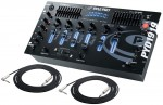 "Pro Audio Pyle DJ PYD1919 Rack Mount 4 Channel Stereo Mixer with 1/4"" TRS Jack Cables"