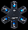 American DJ NUCLEUS LED DMX Centerpeice Moving Head Light Effect