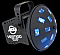 American VERTIGO TRI LED Milti Color 32 Beam Rotating Portable Light