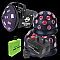 American DJ LED PARTY PAK 3 Includes Aggressor Tri LED, Mini Tri Ball, Fog