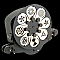 Elation IP RGW Rotating GOBO Wheel with Timer for Image Pro 300